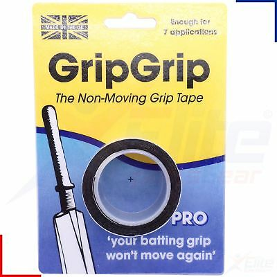 GripGrip Pro Cricket Bat Grip Non Moving Regripping Tape - 7 Applications