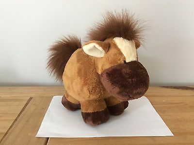 CHUBBY CHUMS Horse soft toy - 24cm front to back - Russ Berrie UK Ltd.