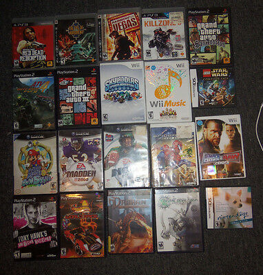 Lot of 20 Video Game Cases ONLY Nintendo Playstation Shin Megami Super Mario