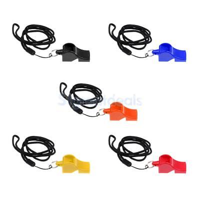 Plastic Emergency Survival Whistle with Lanyard Marine Safety Camping Kayak Boat