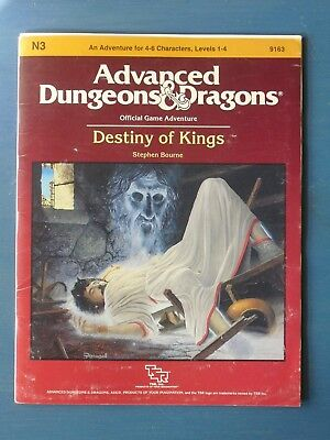 TSR Advanced Dungeons and Dragons Module N3 Destiny of Kings 1986 VG Condition
