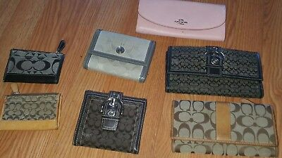 Lot Of 5 Coach Wallets  & 2 Coach card holders