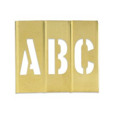 "Box Packaging Letter/Number Brass Stencils, 1"" 45 pc/Case"