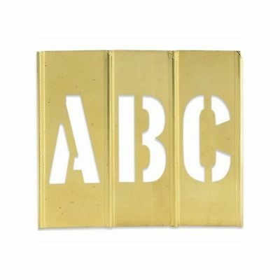 "Box Packaging Letter/Number Brass Stencils, 3"" 45 pc/Case"