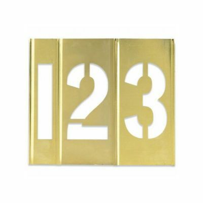 "Box Packaging Number Only Brass Stencils, 3"" 15 pc/Case"