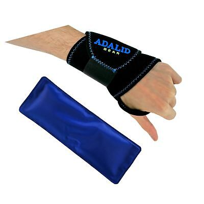 Wrist Support Brace with Gel Ice Pack for Hot and Cold Therapy | Adjustable W...