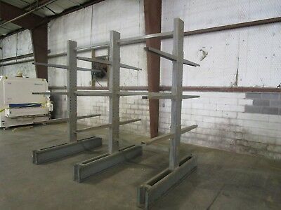 STEEL KING 2 section DOUBLE SIDED CANTILEVER WOOD STEEL MATERIAL STORAGE RACK