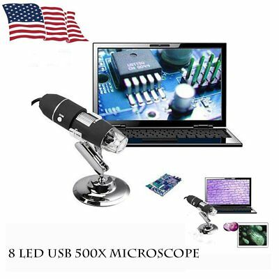 USB Microscope Endoscope 1000X 2MP 8LED Digital Magnifier Camera  Exquisite US