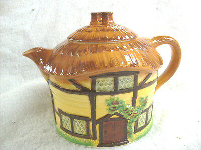 Vintage 1960s Unused Burlington Ware Cottage Teapot by: Devon Cobb England,Mint.