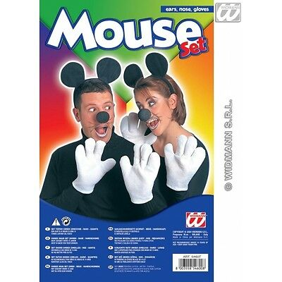 MOUSE SET EARS GLOVES NOSE Accessory for Animal Creature Mickey Danger Mighty Fa