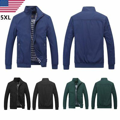 New Hot Men's Slim collar jackets fashion jacket Tops Casual coat outwear US