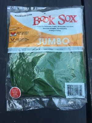 BOOK SOX Stretchable Fabric Book Cover Premium Quality JUMBO Green Original