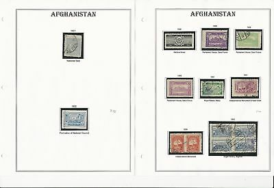 Afghanistan Collection 1927 to 1985 on 30 Album Pages