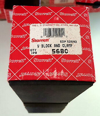 STARRETT # 568C Large Precision V-Blocks and Clamps Set …… BRAND NEW MADE IN USA