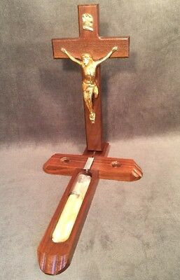 Beautiful Vintage Last Rites Divinity Sick Call Wall Crucifix Cross Unused