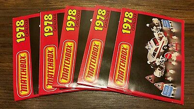 5 VINTAGE 1978 MATCHBOX COLLECTORS MODELS CATALOG Lesney SERIES CHECKLIST MINT