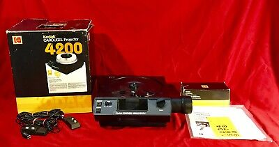 Kodak 4200 Carousel Projector + Box and 2 Remotes