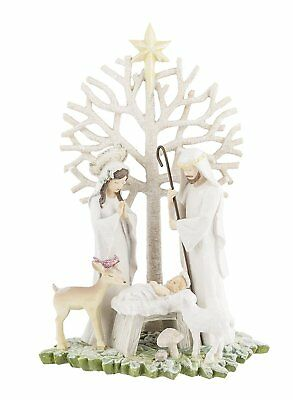 Grasslands Road H7 Gifts Of Glory Christmas 7in Nativity w/ Tree Figurine 464048
