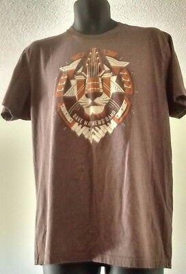 Dave Matthews Band Lion T Shirt Heather Brown Size L DMB