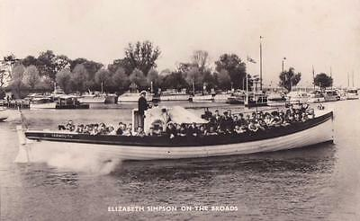 RP GREAT YARMOUTH LIFEBOAT ELIZABETH SIMPSON ON OULTON BROAD REAL PHOTO c1936