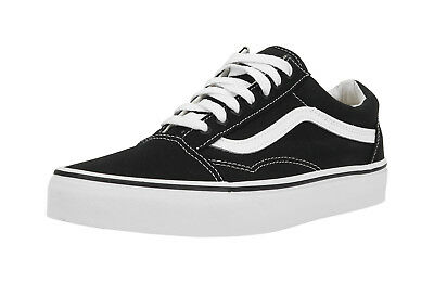 Vans Men Women Unisex Old Skool Black True White Canvas Skateboard Shoes