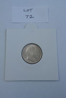 1902 Edward VII silver sixpence, about Uncirculated. (Lot 72)