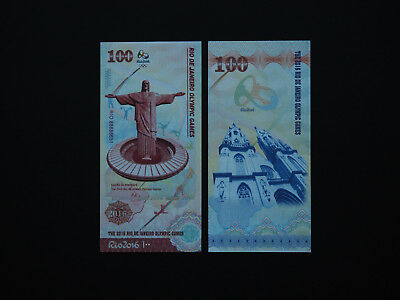 Brazil Banknotes Type 2 Rio Olympic Games  -  Fantastic   Mint  Unc