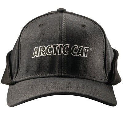 Arctic Cat Fleece Lined Earlap Fitted Cap Two Postion Earflap Black 5263-103-104