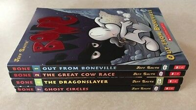 Lot of 4 JEFF SMITH Bone Books Graphix Graphic Novel Comics