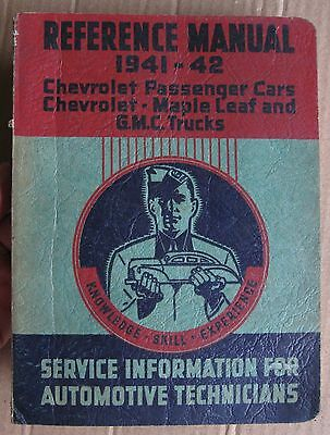 1941-42 Chevrolet Cars Maple Leaf & Chev GMC Pickup Trucks Reference Manual Book