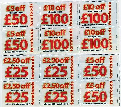FARMFOODS DISCOUNT VOUCHERS EXCEPTIONALLY LONG VALIDITY - 30th NOVEMBER 2017