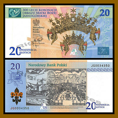 Poland 20 Zlotych, 2017 P-New 300th Anniversary of the Coronation In Folder Unc