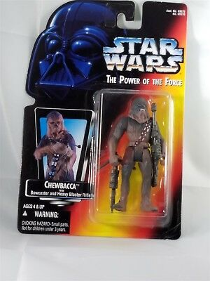 Star Wars Power of the Force Chewbacca with Bowcaster and Heavy Blaster NIP