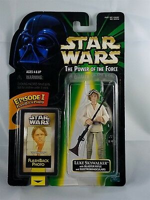 Star Wars POTF Luke Skywalker w/ Blaster Rifle and Electrobinoculars Flash back