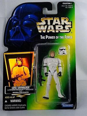 Star Wars POTF Luke Skywalker in Stormtrooper Disguise w/ Imperial Issue Blaster