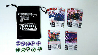 Star Wars Imperial Assault Board Game Promo Lot Acrylic Tokens Set