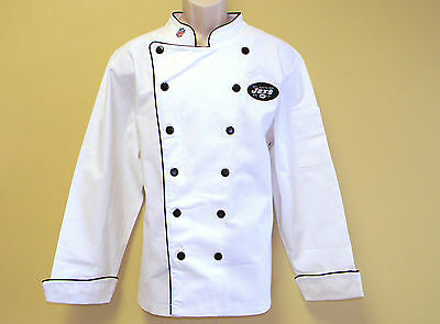New Nfl New York Jets Premium Chef Coat 100% Cotton M Size Football Chief Coat