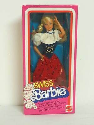 SWISS Barbie Doll Switzerland 1983 Mattel 7541 Dolls Of World NRFB INTERNATIONAL