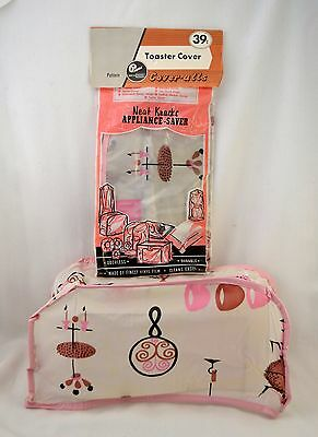 Vtg Neat-Knacks Appliance Saver Coveralls Toaster Cover NEW in Pkg Vinyl Pink