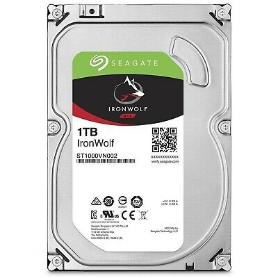 "Seagate SATA 3.5"" NAS HDD IronWolf 1TB 5900RPM 64MB Internal Hard Disk Drive PC"