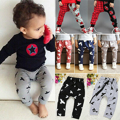 Toddler Baby Boys Girls Harem Baggy Pants Trousers Kid Bottoms Slacks Sweatpants