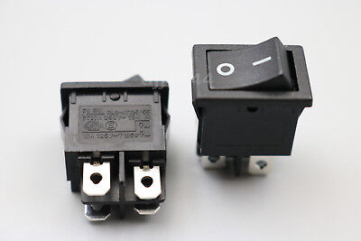 2Pcs RL3-4 RLEIL 4Pin 2Position ON-OFF Maintained DPST Plastic Rocker Switch