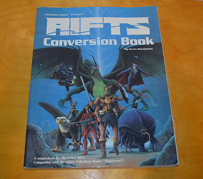 Rifts Conversion Book Palladium 1991 Role Playing Game Rpg Sourcebook