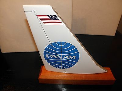 Pan Am Airline Wood Desk Model Airplane Tail Pan American Pilot Fathers Day Gift