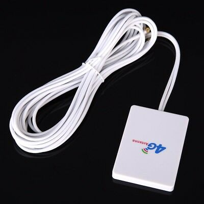 LTE TS9 x 2 Antenna Booster Amplifier Panel 28dBi 4G 3G For Mobile Router White