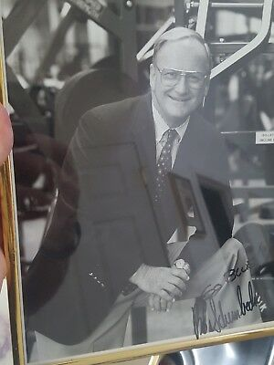 Bo Schembechler Michigan Football Coach Signed photograph