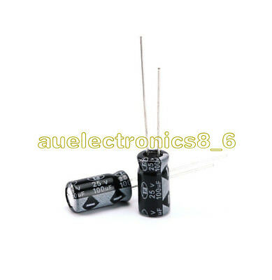 30PCS  100UF 25V Radial Electrolytic Capacitor The general size NEW AU