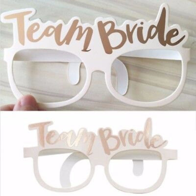 10pcs Team Bride Paper Glasses Hen Night Bachelorette Photo Party Glasses Decor