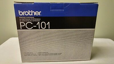 BROTHER PC-101 Black INTELLI FAX PRINT CARTRIDGE  NIB 1150 1250 1350M 1450M 1550