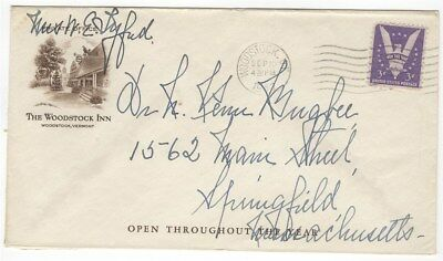 Cover 1943 Woodstock VT Woodstock Inn Corner Card Advertising